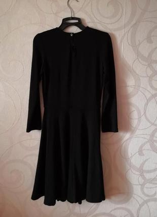 Черное платье-миди, винтаж, вязаное платье, теплое коктейльное платье, новый год, ретро4
