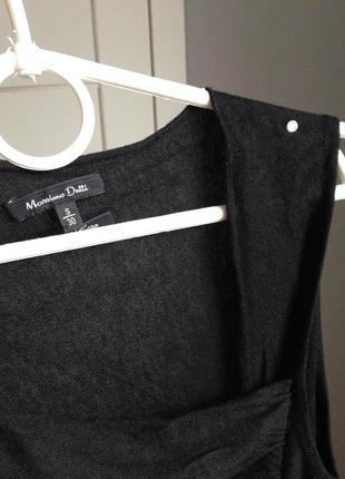 Лёгкое шёлковое платье миди в идеале хс-с massimo dutti| 70% шелк5