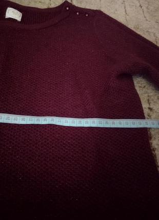 Бордовый свитер свитерок блестящий3