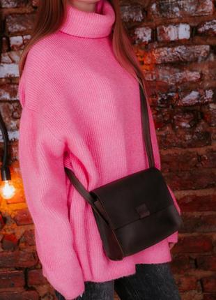 Сумка женская из кожи через плечо, шкіряна жіноча сумка2