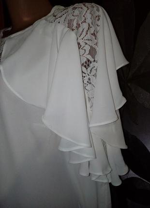Шикарнейшая блуза с воланами3