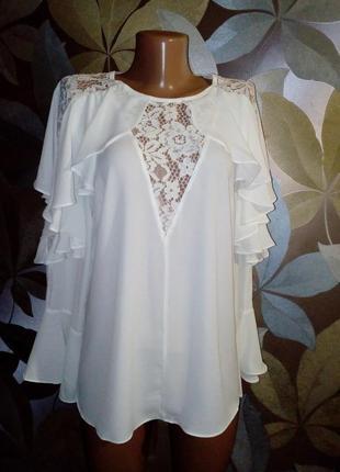 Шикарнейшая блуза с воланами4