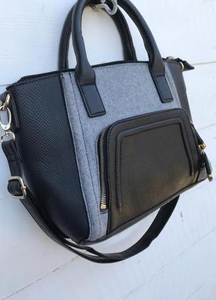 Крутая серая сумочка от new look1
