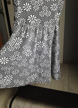 Платье миди из фактурного трикотажа хс-с topshop4