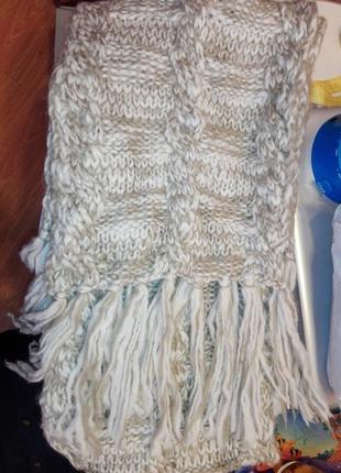 Обалденный шарф длинный из акриловой нити3
