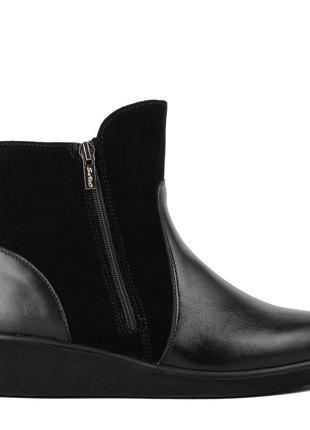 1015цп женские ботинки savio,на платформ,на низком ходу,кожаные,на толстой подошве3 фото