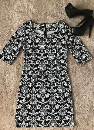 Причаленное трикотажное платье1