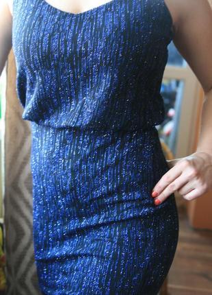 Вечернее платье в пайетки на новый год1 фото
