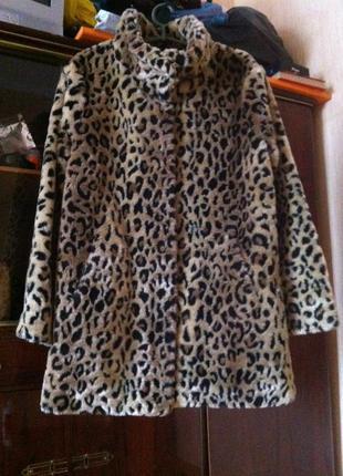 Шуба amisu леопард5