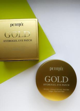 Гидрогелевые патчи для глаз с золотым комплексом +5 petitfee gold hydrogel eye patch3