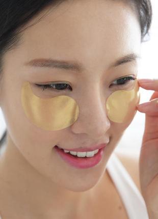 Гидрогелевые патчи для глаз с золотым комплексом +5 petitfee gold hydrogel eye patch4
