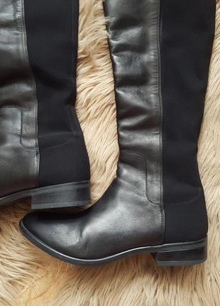 Черные кожаные сапоги clarks,сапоги clarks,черные кожаные сапоги3