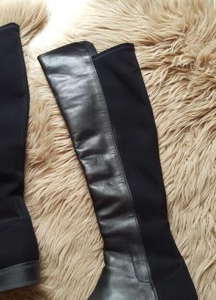 Черные кожаные сапоги clarks,сапоги clarks,черные кожаные сапоги5