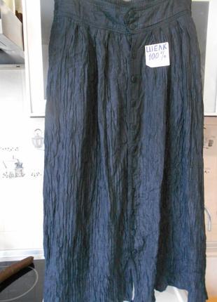 #роскошная гофрированная  шелковая юбка #rafael#1 фото