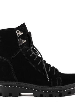 1012цп женские ботинки kento,замшевые,на толстой подошве,на низком ходу,на шнурках3