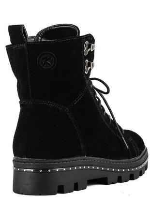1012цп женские ботинки kento,замшевые,на толстой подошве,на низком ходу,на шнурках4