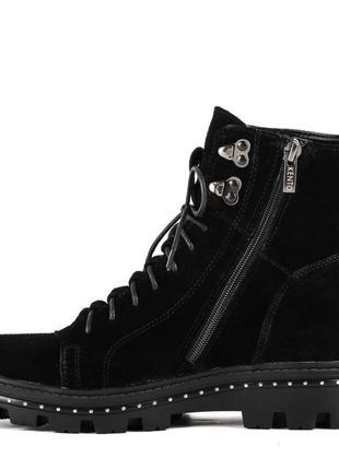 1012цп женские ботинки kento,замшевые,на толстой подошве,на низком ходу,на шнурках2