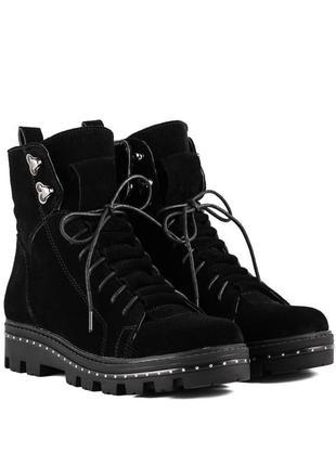 1012цп женские ботинки kento,замшевые,на толстой подошве,на низком ходу,на шнурках