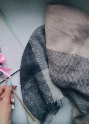 Хит!!! шарф-платок, плед в клетку!!! новый, разные цвета!!!3