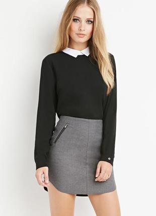 Теплая  серая юбка от h&m 50-52 размер1