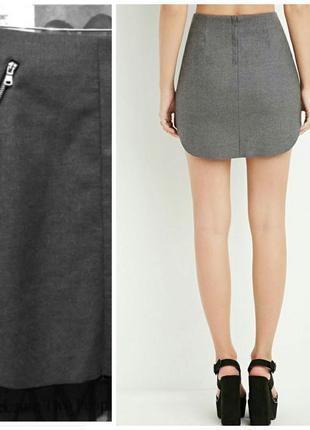 Теплая  серая юбка от h&m 50-52 размер4