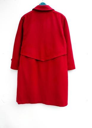 Шерстяное пальто миди с кашемиром большой размер батал стильное пальто демисезон2