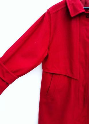 Шерстяное пальто миди с кашемиром большой размер батал стильное пальто демисезон3