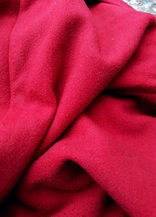Шерстяное пальто миди с кашемиром большой размер батал стильное пальто демисезон4