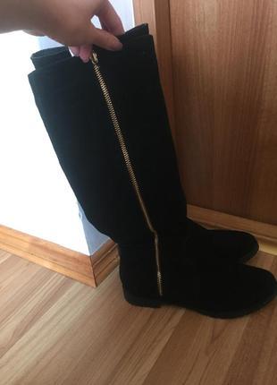 Замшеві зимові чоботи3 фото