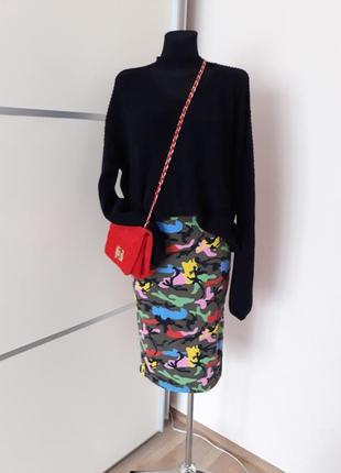 Супер юбка карандаш яркий принт 1+1=31 фото