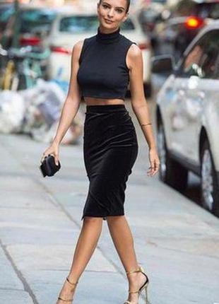 Шикарная велюровая юбка, люкс качества1 фото