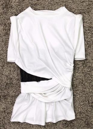 Брендрвая футболка с корсетной основой люкс2