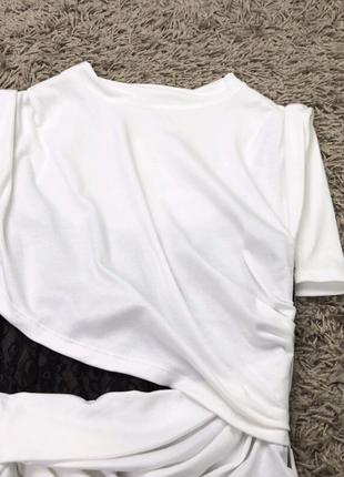Брендрвая футболка с корсетной основой люкс4