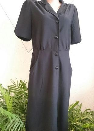Стильное платье на пуговках
