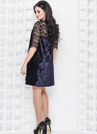 Платье с кружевом2