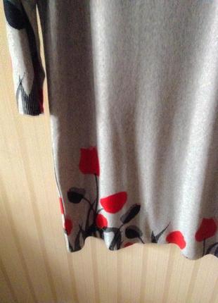 Идеальное платье на новый год принт актуальное трендовое серое красное бесплатная доставка3