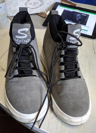 Серые ботинки один раз одеты 37 р.