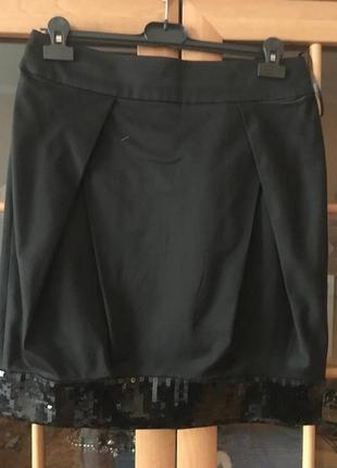 Дизайнерская юбка с пайетками1