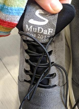Серые ботинки один раз одеты 37 р.5 фото