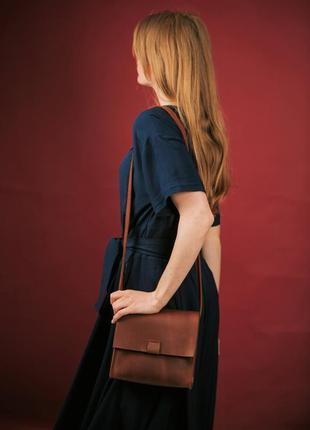 Сумка женская из кожи через плечо, шкіряна жіноча сумка2 фото