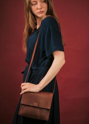 Сумка женская из кожи через плечо, шкіряна жіноча сумка1 фото