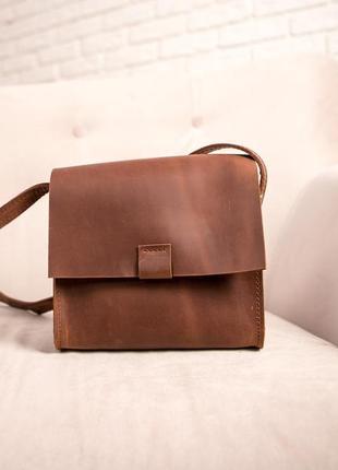 Сумка женская из кожи через плечо, шкіряна жіноча сумка3 фото