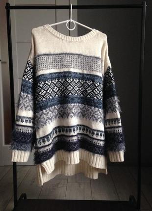 Стильный толстый обьемный теплющий свитер