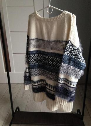 Стильный толстый обьемный теплющий свитер4 фото