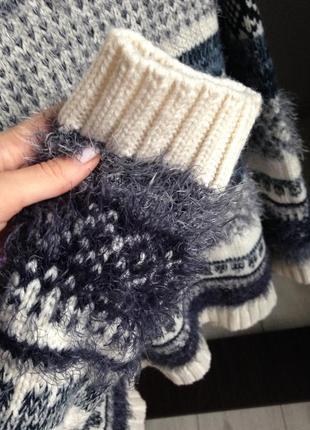 Стильный толстый обьемный теплющий свитер5 фото