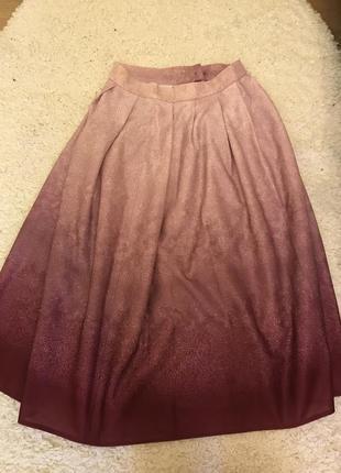 Розовая юбка омбре