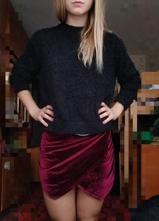 Велюровые шорты - юбка3