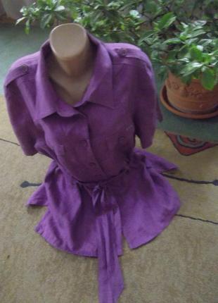 Льняная блуза frank walder3 фото