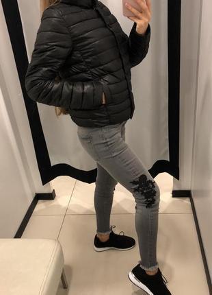 Стёганая деми куртка на синтепоне amisu курточка на кнопках2 фото