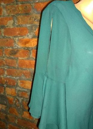 Свободная блуза на запах с объемными рукавами new look2